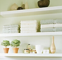 Wooden Wall Shelves White Shelf