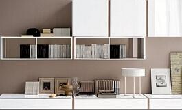 White Shelf Organization